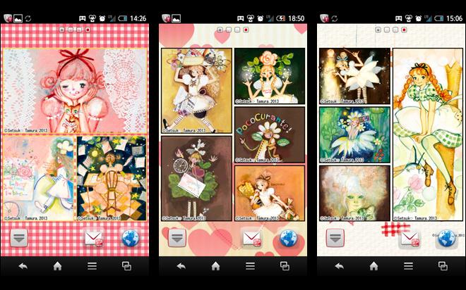 田村セツコマルチフレーム壁紙 アプリ画面